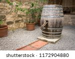 Old Wine Barrel Used As Water...