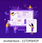 a team of web developers... | Shutterstock .eps vector #1172906929