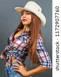 young beautiful sexy girl in... | Shutterstock . vector #1172907760
