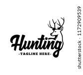 hunting logo. black and white... | Shutterstock .eps vector #1172909539