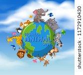 world animal day template... | Shutterstock .eps vector #1172910430