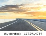 clean asphalt highway and... | Shutterstock . vector #1172914759