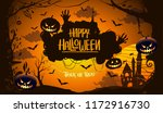 happy halloween poster  night... | Shutterstock .eps vector #1172916730