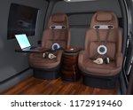 passenger drone interior.... | Shutterstock . vector #1172919460