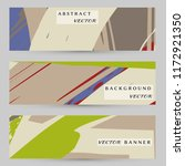 abstract art painting banners... | Shutterstock .eps vector #1172921350