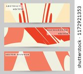 abstract art painting banners... | Shutterstock .eps vector #1172921353