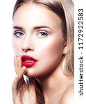 attractive beauty model girl... | Shutterstock . vector #1172922583