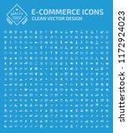 shopping vector icon set | Shutterstock .eps vector #1172924023