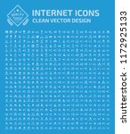 internet vector icon set | Shutterstock .eps vector #1172925133