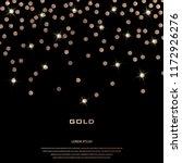 Golden Festive Confetti. Bronze ...