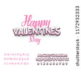 happy valentines day  font.... | Shutterstock . vector #1172932333