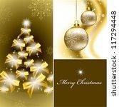 christmas background. vector... | Shutterstock .eps vector #117294448