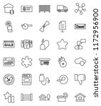 thin line vector icon set  ... | Shutterstock .eps vector #1172956900
