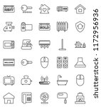 thin line vector icon set   mop ... | Shutterstock .eps vector #1172956936