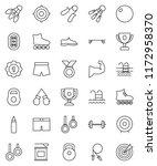 thin line vector icon set  ... | Shutterstock .eps vector #1172958370