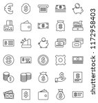 thin line vector icon set  ... | Shutterstock .eps vector #1172958403