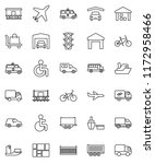 thin line vector icon set  ... | Shutterstock .eps vector #1172958466
