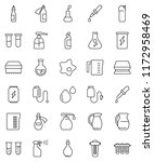 thin line vector icon set  ... | Shutterstock .eps vector #1172958469