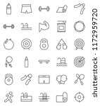 thin line vector icon set  ... | Shutterstock .eps vector #1172959720