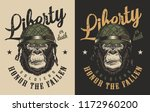 t shirt print with gorilla... | Shutterstock .eps vector #1172960200