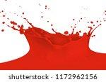red paint splashing isolated on ... | Shutterstock . vector #1172962156