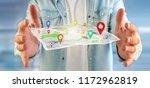 view of a man holding a 3d... | Shutterstock . vector #1172962819