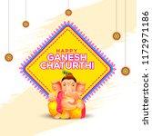 illustration of happy ganesh... | Shutterstock .eps vector #1172971186