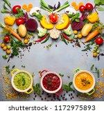 concept of healthy vegetable... | Shutterstock . vector #1172975893