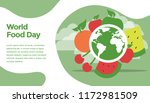 world food day concept. ready...   Shutterstock .eps vector #1172981509