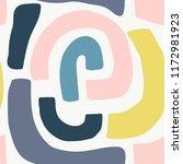 seamless pattern with modern... | Shutterstock .eps vector #1172981923