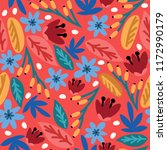 seamless vector pattern with... | Shutterstock .eps vector #1172990179