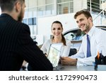insurance broker or salesman... | Shutterstock . vector #1172990473