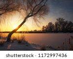 beautiful winter landscape. the ... | Shutterstock . vector #1172997436