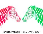 Background Artistic Zebras Color - Fine Art prints