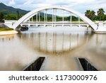 white bridge above mae tha...   Shutterstock . vector #1173000976