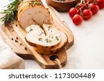 christmas turkey breast roll... | Shutterstock . vector #1173004489