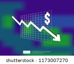 dollar money fall down symbol... | Shutterstock .eps vector #1173007270