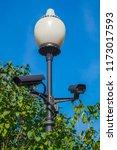 outdoor video surveillance... | Shutterstock . vector #1173017593