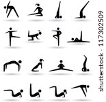 aerobic icons | Shutterstock .eps vector #117302509