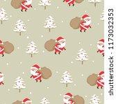 merry christmas seamless... | Shutterstock .eps vector #1173032353