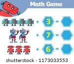 mathematics educational game...   Shutterstock .eps vector #1173033553