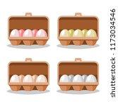 eggs in box vector. | Shutterstock .eps vector #1173034546