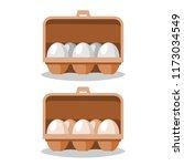 eggs in box vector. | Shutterstock .eps vector #1173034549