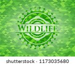 wildlife realistic green mosaic ... | Shutterstock .eps vector #1173035680