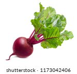 Red Beet Root With Leaves...