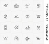 middle ages line icon set with...   Shutterstock .eps vector #1173048163
