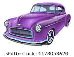 vintage classic american car.... | Shutterstock .eps vector #1173053620
