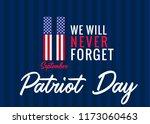 11 september  we will never... | Shutterstock .eps vector #1173060463