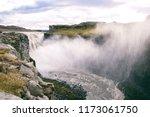 mighty dettifoss waterfall... | Shutterstock . vector #1173061750