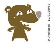 flat color style cartoon bear...   Shutterstock .eps vector #1173065989